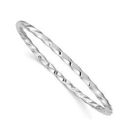 Sterling Silver Slip On Baby Bangle Bracelet
