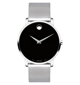 Movado Movado Museum Classic Mens Black Dial with Mesh Band