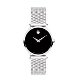 Movado Movado Museum Classic Ladies Black Dial with Mesh Band