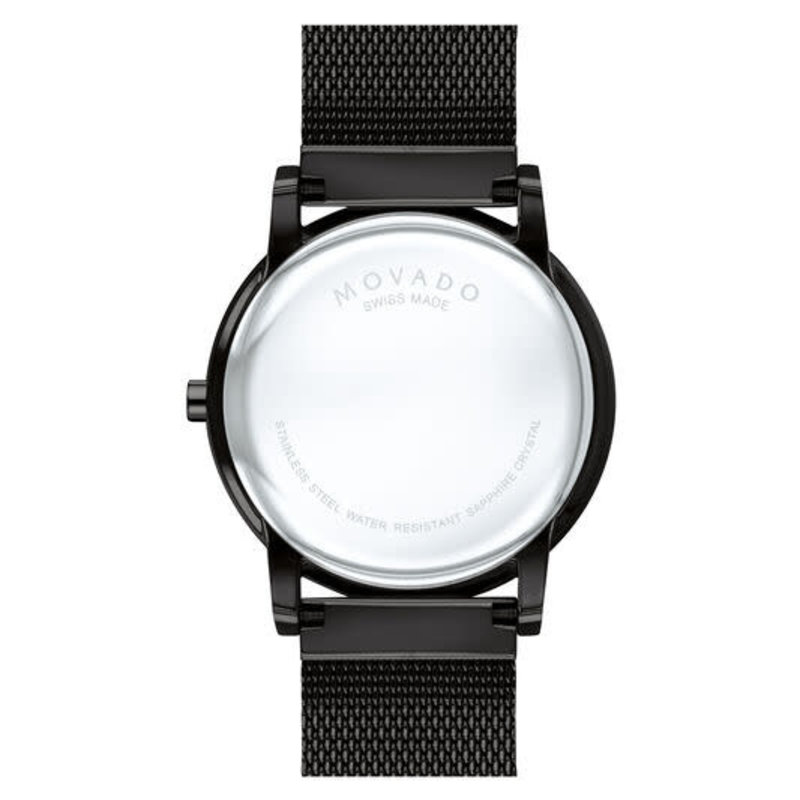 Movado Movado Museum Classic Mens Black Dial with Black Mesh Band