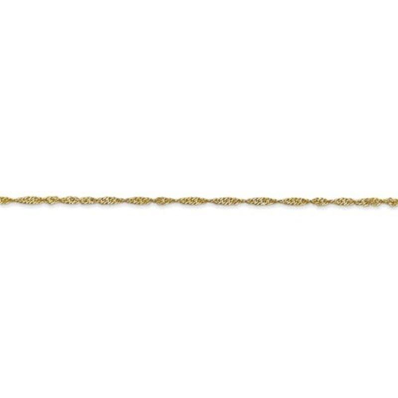 White Gold Singapore Ankle Bracelet
