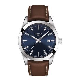 Tissot Tissot Gentleman Blue Dial Brown Leather Strap Watch