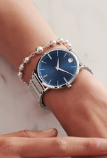 Movado Movado Ultra Slim Mens Watch with Blue Dial