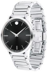 Movado Movado Ultra Slim Mens Watch with Black Dial