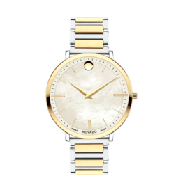 Movado Movado Ultra Slim Ladies Watch with White Pearl Dial