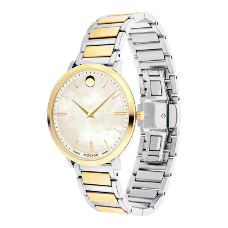Movado Movado Ultra Slim Womans Watch with White Pearl Dial