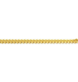 10K Yellow Gold (4.5mm) Hollow Franco Chain (20-30in)