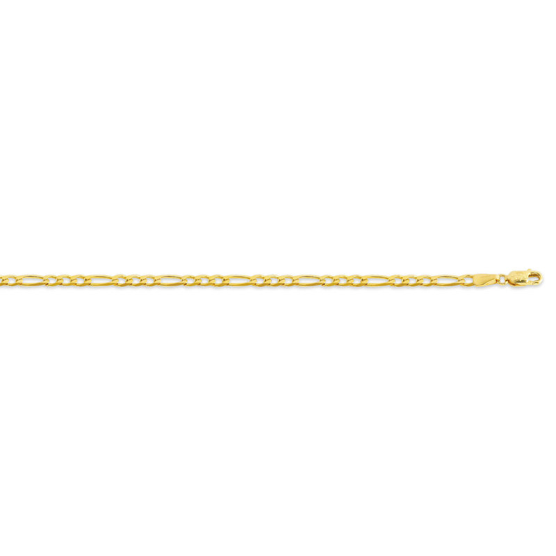 """10K Yellow Gold (2.9mm) Figaro Chain 16-24"""""""