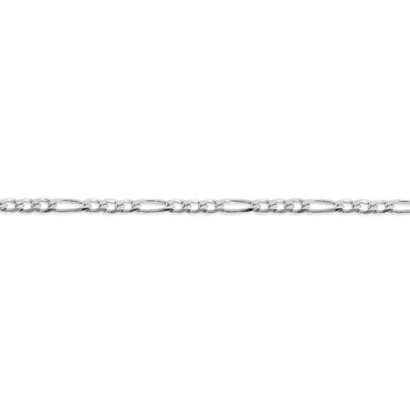 """10K White Gold (2.9mm) Figaro Chain 16 - 24"""""""