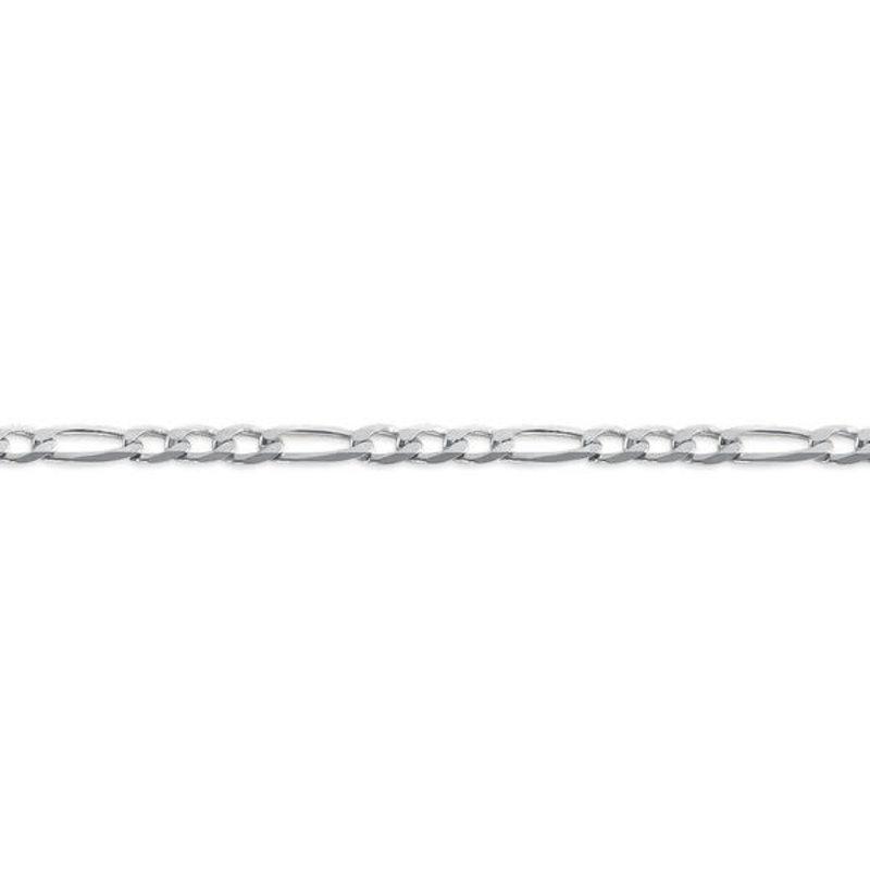 """10K White Gold (3.8mm) Figaro Chain (20"""" - 24"""")"""