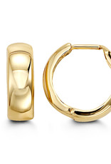 10K Yellow Gold (15mm) Huggie Hoop Earrings