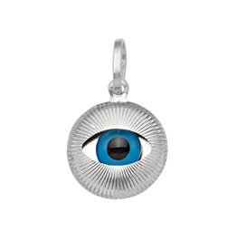 White Gold Small Evil Eye Pendant (10K,14K, 18K)