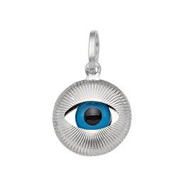 White Gold Small Evil Eye Pendant (14K, 18K)