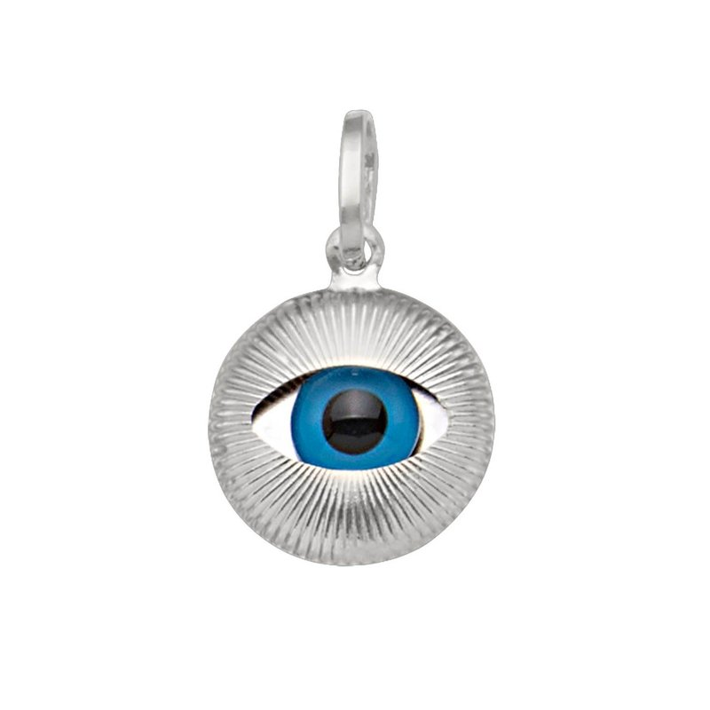 White Gold Small Evil Eye Pendant (14K, 18K)
