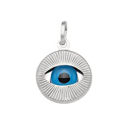 White Gold Large Evil Eye Pendant (14K, 18K)