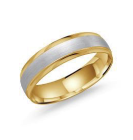Malo 10K Yellow and White Gold (5mm) Bevelled Band
