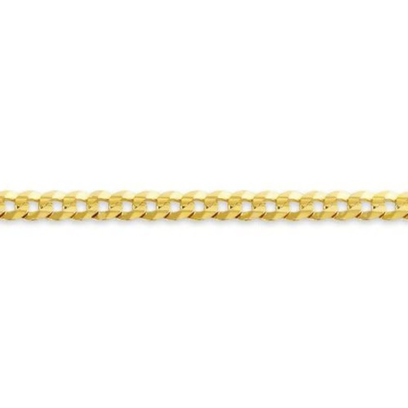 """Yellow Gold (4.2mm) Curb Chain (20 - 24"""")"""