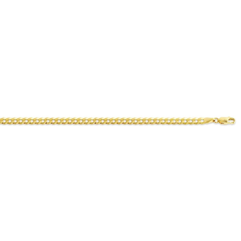 "10K Yellow Gold (4.2mm) Curb Chain (20 - 24"")"