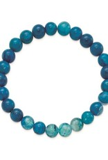 Blue Fire Agate (8mm) Beaded Stretch Bracelet