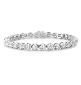 White Gold (1.00ct) Graduated Diamond Tennis Bracelet