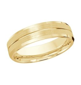 Malo Yellow Gold (6mm) Brushed Centre Band (10K, 14K, 18K)