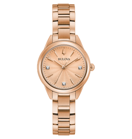 Bulova Bulova Ladie's Rose Tone Watch 97P151
