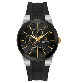 Bulova Bulova Men's Futuro Black Dial Watch 98C138