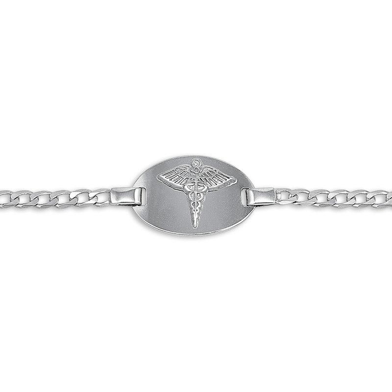 10K White Gold Medical ID Ladies (3mm) Link Bracelet