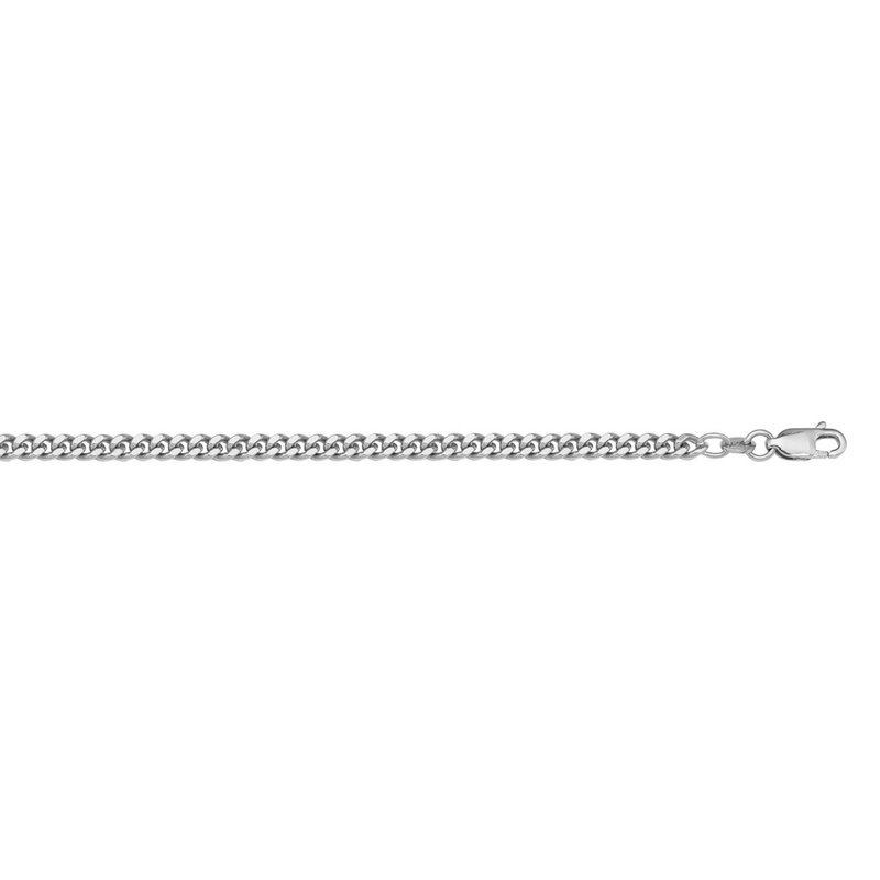 """I am Canadian 10K White Gold (2mm) Curb Chain (18"""" - 24"""")"""