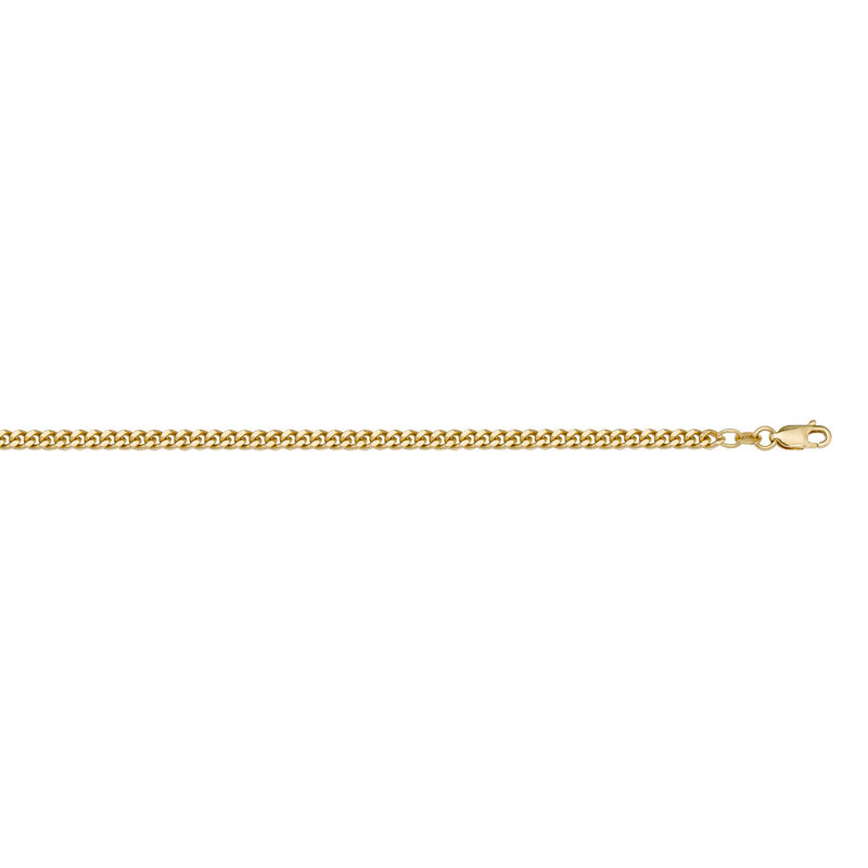 "10K Yellow Gold (1.4mm) Curb Chain (16"" - 24"")"