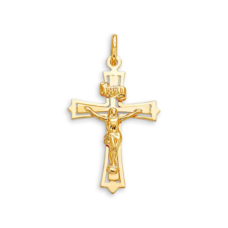 10K Yellow Gold Crucifix Pendant