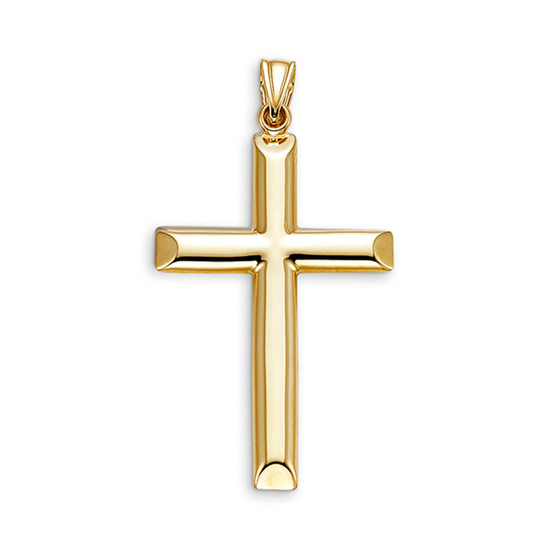 10K Hollow Yellow Gold High Polished Gold Pendant