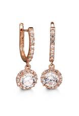 Rose Gold Cubic Zirconia Dangle Earrings