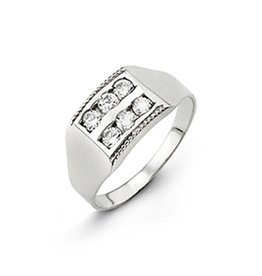 10K White Gold Baby Cubic Zirconia Ring