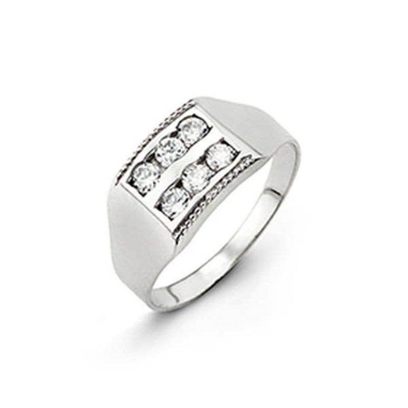 10K White Gold Baby Cubic Zirconia Ring