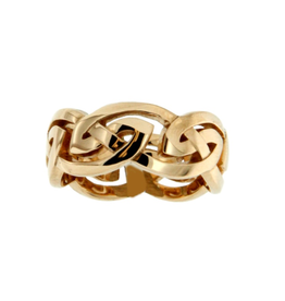 Keith Jack Keith Jack Yellow Gold Eternity Knot Gowan Mens Ring