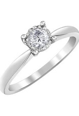 10K White Gold (0.25ct) Diamond Ilusion Setting Solitaire Engagement Ring