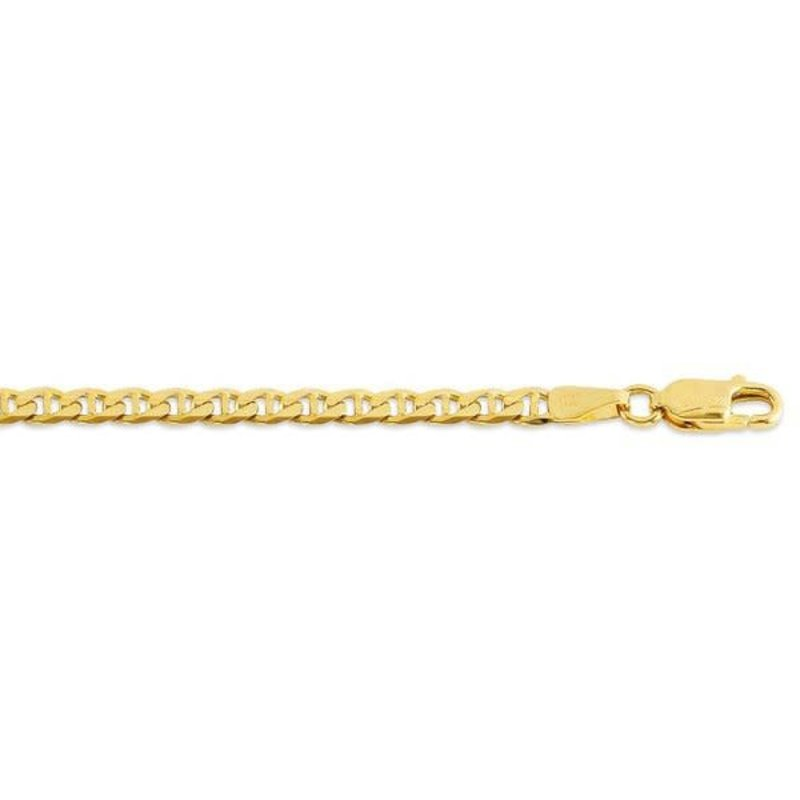 10K Yellow Gold (3.7mm) Marine Link Chains (20 - 24in)