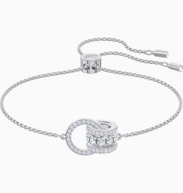 Swarovski Swarovski Further Bracelet, White, Rhodium Plated
