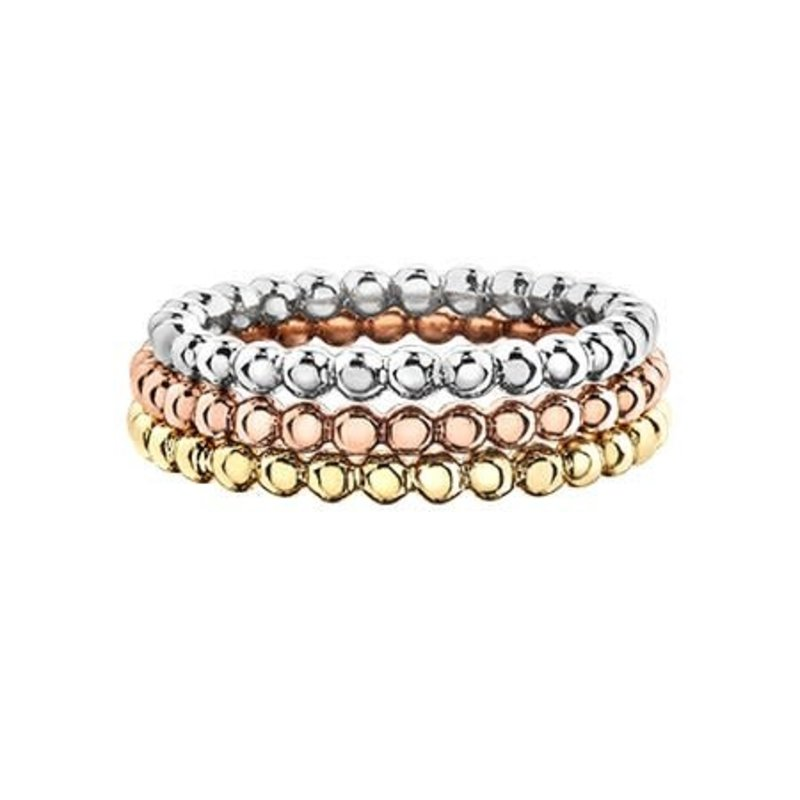 10K Rose Gold Stackable Bubble Band