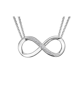 Sterling Silver (0.05ct) Diamond Infinity Necklace