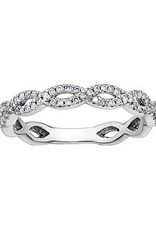 10K White Gold (0.15ct) Diamond Infinity Stackable Band