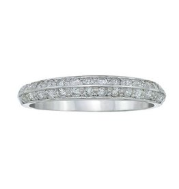18K White Gold (0.35ct) Diamond Band