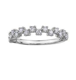 Maple Leaf Diamonds 18K Palladium White Gold Maple Leaf (0.40ct) Canadian Diamonds Stackable Ring