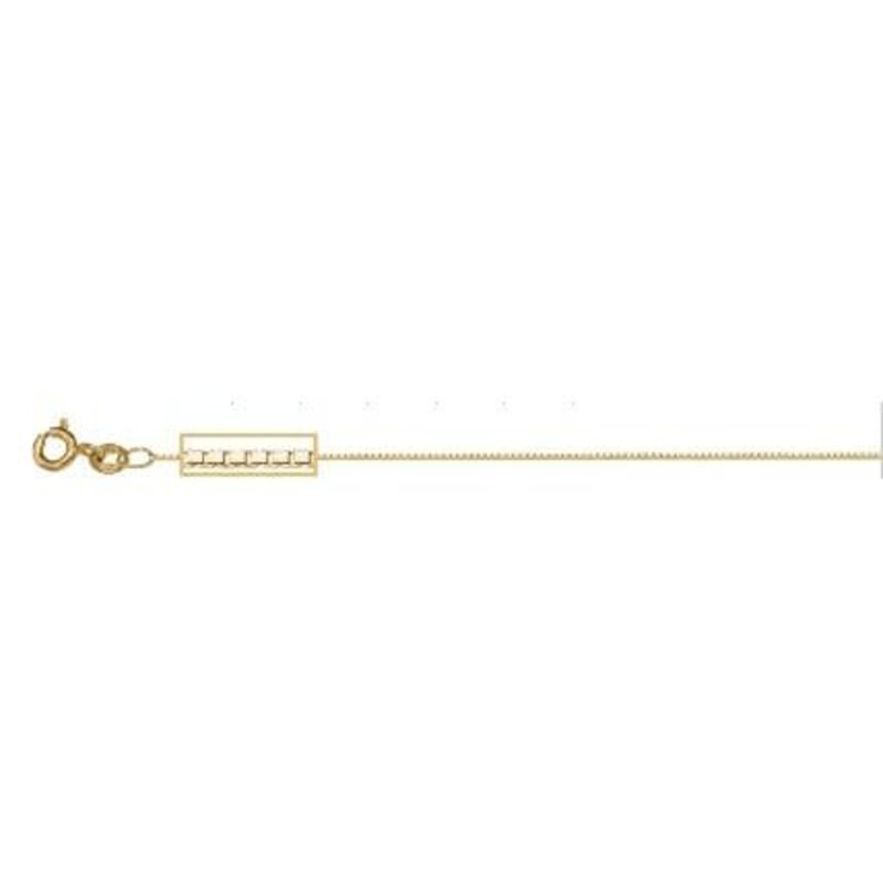 10K Yellow Gold (0.6mm) Box Baby Chain 14""