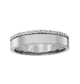 Crown Ring White Gold Ladies Diamond Band (10K, 14K, 18K)