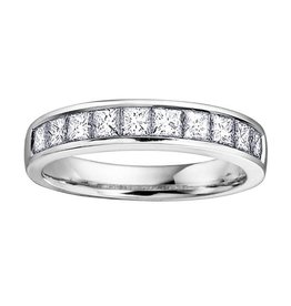 14K White Gold (0.25ct - 1.00ct) Cut  Diamond Anniversary Bands