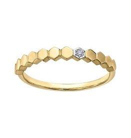10K Yellow Gold (0.015ct) Diamond Stackable Wedding Band