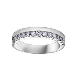 14K White Gold (0.50ct) Diamond Stackable Wedding Band