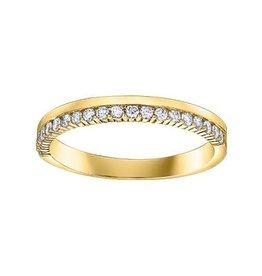14K Yellow Gold (0.25cttw) Diamond Band